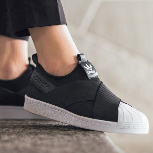 ADIDAS Women's Superstar Slip-On Sneakers Black